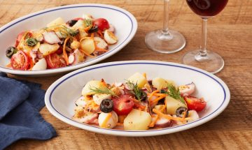 ジャガイモのワインバル風トスサラダ
