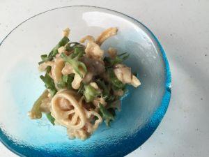 ミミガーとシカクマメの和え物 ミミガーとシカクマメの和え物 - 沖縄料理レシピなら おきレシ