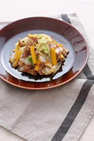 豚肉 ポン酢 白菜