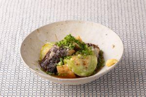 夏野菜と揚げ豆腐の冷製煮びたし