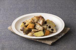 県産鶏と秋野菜のご馳走グリル