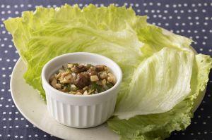 牛肉と春野菜のレタス巻き