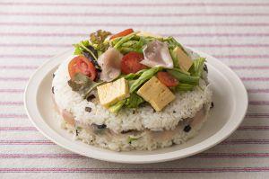 春野菜の簡単サラダ寿司